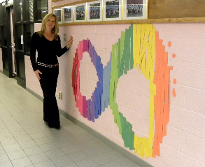 Erin Henry and CC4C logo made by the children.